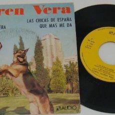 Discos de vinilo: EP- LAUREN VERA - AUTOGRAFIADO POR LAUREN VERA - PROMO - ENSUEÑO DE AMOR,CORAZON DE PRIMAVERA. Lote 99723555