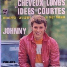 Discos de vinilo: JOHNNY HALLYDAY ?– 24E SÉRIE - CHEVEUX LONGS ET IDÉES COURTES . Lote 99789419