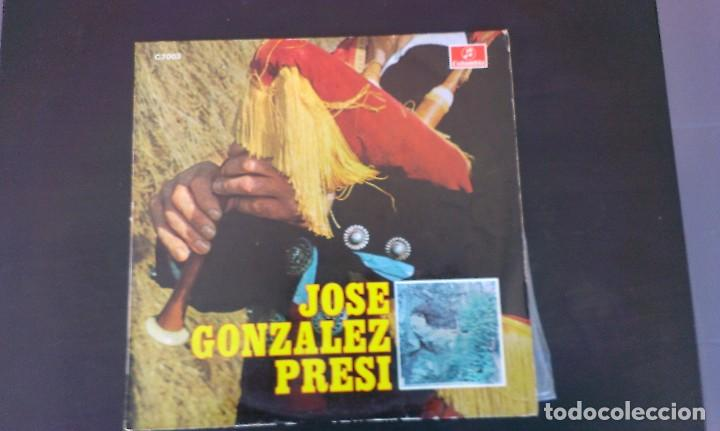 LP JOSE GONZALEZ PRESI ASTURIAS FOLKLORE GAITA CANCIÓN ASTURIANA (Música - Discos - LP Vinilo - Flamenco, Canción española y Cuplé)