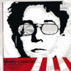 Disques de vinyle: HILARIO CAMACHO / UN EXTRAÑO EN MADRID / GRAN CIUDAD (SINGLE 1987). Lote 99793007