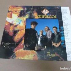 Discos de vinilo: CIENFUEGOS (LP) BESOS AÑO 1991 – ENCARTE CON LETRAS. Lote 99799739