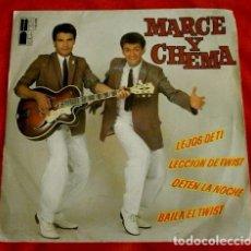 Discos de vinilo: MARCE Y CHEMA (EP. 1980) VIVA EL TWIST - LECCION DE TWIST, LEJOS DE TI, DETEN LA NOCHE, BAILA EL TWI. Lote 99803611