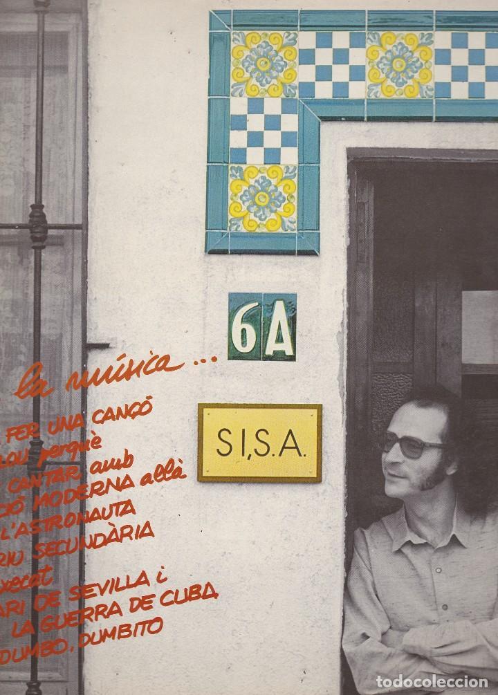 LP SISA. RODA LA MÚSICA. EN CATALÀ. AMB ENCARTE ORIGINAL DE LLETRES. PROVAT I EN MOLT BON ESTAT (Música - Discos - LP Vinilo - Solistas Españoles de los 70 a la actualidad)