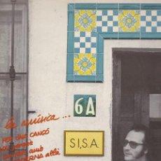 Discos de vinilo: LP SISA. RODA LA MÚSICA. EN CATALÀ. AMB ENCARTE ORIGINAL DE LLETRES. PROVAT I EN MOLT BON ESTAT. Lote 99820019