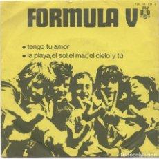 Discos de vinilo: FORMULA V_TENGO TU AMOR/LA PLAYA,EL SOL,EL CIELO Y TU_7'' SINGLE SPAIN PROMO QUESITOS MG_1970 . Lote 99822151