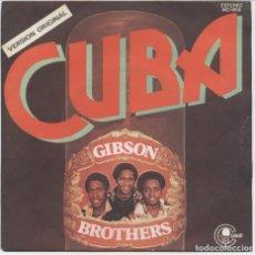 Discos de vinilo: GIBSON BROTHERS_CUBA_7 '' SINGLE SPAIN_1979_LIKE NEW!!!. Lote 99825219
