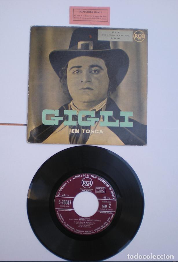 BENIAMINO GIGLI_EN TOSCA_ EP 7'' SPAIN RCA_LIKE NEW!!! (Música - Discos - Singles Vinilo - Clásica, Ópera, Zarzuela y Marchas)