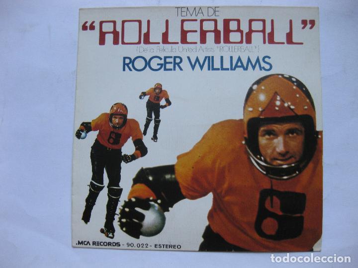ROLLERBALL - TEMA DE LA PELICULA POR ROGER WILLIAMS - SE VENDE SOLO PORTADA (SIN VINILO EN INTERIOR) (Música - Discos - Singles Vinilo - Otros estilos)