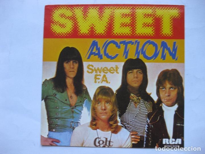 THE SWEET - ACTION - SE VENDE SOLO PORTADA (SIN VINILO EN EL INTERIOR) (Música - Discos - Singles Vinilo - Otros estilos)
