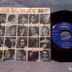 Discos de vinilo: LOS SALVAJES - TODO NEGRO / UNA CHICA IGUAL QUE TU / ES LA EDAD +1 - EP ED. SPAIN - 1966. Lote 99841623