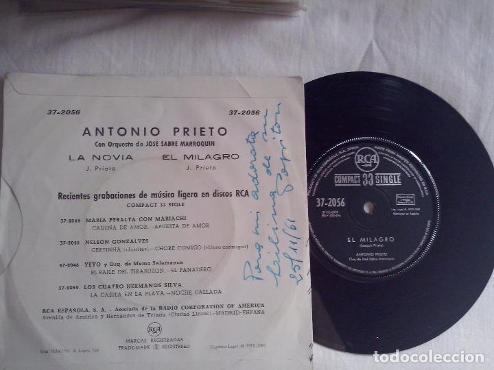 Discos de vinilo: MUSICA SINGLE: ANTONIO PRIETO - LA NOVIA / EL MILAGRO - Foto 2 - 99853679