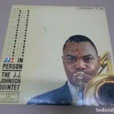 Discos de vinilo: THE J.J. JOHNSON QUINTET (LP) J.J. IN PERSON AÑO 1958 – EDICION U.S.A.. Lote 99881327