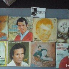 Discos de vinilo: LOTE DE 8 SINGLES DE JULIO IGLESIAS. Lote 99894911