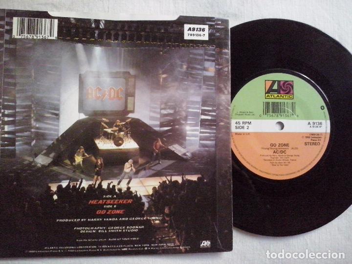 Discos de vinilo: musica single: AC DC - HEAT SEEKER. ¡¡COLECCIONISTA, - Foto 2 - 99905731