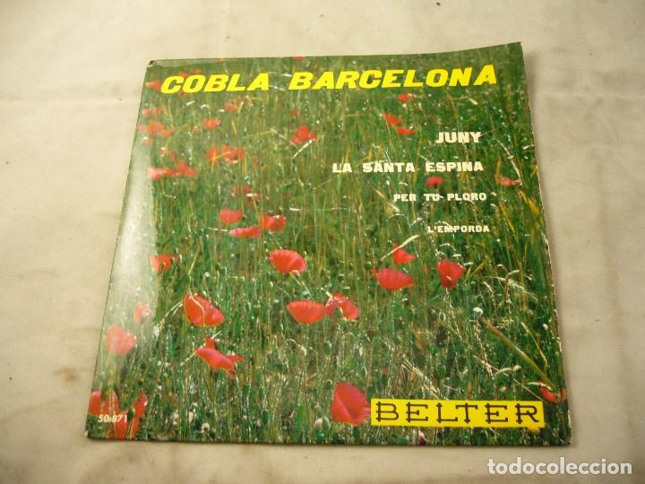 COBLA BARCELONA - JUNY - ETC.. - SARDANES - EP BELTER 1961 (Música - Discos de Vinilo - EPs - Orquestas)