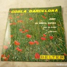 Discos de vinilo: COBLA BARCELONA - JUNY - ETC.. - SARDANES - EP BELTER 1961. Lote 99934843