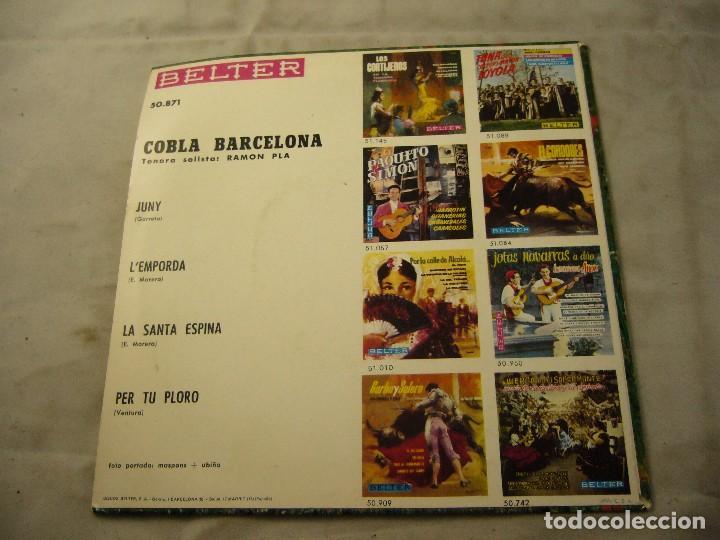 Discos de vinilo: COBLA BARCELONA - JUNY - ETC.. - SARDANES - EP BELTER 1961 - Foto 4 - 99934843