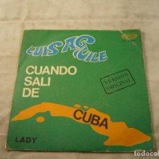 Discos de vinilo: LUIS AGUILE - CUANDO SALI DE CUBA (MOVIEPLAY, 1967). Lote 99935691