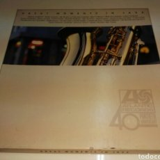 Discos de vinilo: LP GREAT MOMENTS IN JAZZ- UNICO 3 VINILOS ATLANTIC RECORDS 40 ANNIVERSARY 1. Lote 99945792