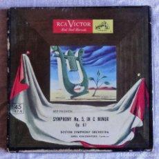 Discos de vinilo: BEETHOVEN SYMPHONY Nº 5 C MENOR BOSTON ORCHESTRA SERGE KOUSSEVITZKY RCA VICTOR. Lote 99957571