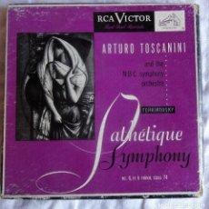 Discos de vinilo: TCHAIKOVSKY PATHETIQUE SYMPHONY Nº 6 TOSCANINI RCA VICTOR WDM 1281 5 EP ROJO. Lote 99959907