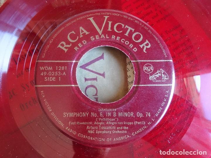 Discos de vinilo: TCHAIKOVSKY PATHETIQUE SYMPHONY Nº 6 TOSCANINI RCA VICTOR WDM 1281 5 EP ROJO - Foto 4 - 99959907