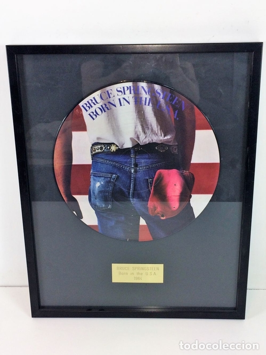 Discos de vinilo: LP VINILO BORN IN THE U.S.A.. BRUCE SPRINGSTEEN. ENMARCADO. 1984 - Foto 2 - 197643307
