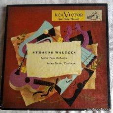 Discos de vinilo: STRAUSS WALTZES BOSTON POPS ORHESTRA 4 EP VINILO ROJO RCA WDM 445. Lote 99968279