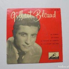 Discos de vinilo: GILBERT BECAUD ''LA CORRIDA'' AÑOS 60 VINILO DE 7'' ES UN EPS DE 4 CANCIONES. Lote 99988919