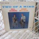 Discos de vinilo: PAUL DESMOND , GERRY MULLIGAN – TWO OF A MIND.LP ORIGINAL USA 1962.SELLO RCA.COOL JAZZ. Lote 99995195