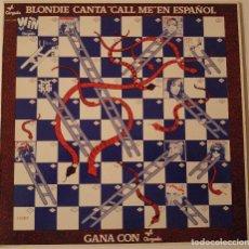 Discos de vinilo: VV.AA..GANA CON CHRYSALIS.(BLONDIE CANTA CALL ME EN ESPAÑOL.).(CHRYSALIS 1982).SPAIN.. Lote 100006807