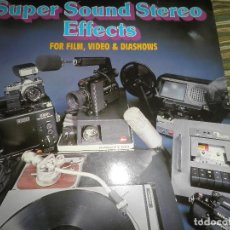 Discos de vinilo: SUPER SOUND STEREO EFFECTS FOR FILM, VIDEO & DIASHOWS DOBLE LP - ORIGINAL ALEMAN - MCR SIN FECHA -. Lote 100048411