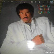Discos de vinilo: LIONEL RICHIE - DANCING ON THE CEILING LP - ORIGINAL ESPAÑOL - MOTOWN 1986 - FUNDA INT. ORIGINAL -. Lote 141569782