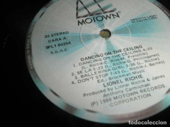 Discos de vinilo: LIONEL RICHIE - DANCING ON THE CEILING LP - ORIGINAL ESPAÑOL - MOTOWN 1986 - FUNDA INT. ORIGINAL - - Foto 15 - 141569782