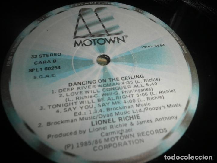 Discos de vinilo: LIONEL RICHIE - DANCING ON THE CEILING LP - ORIGINAL ESPAÑOL - MOTOWN 1986 - FUNDA INT. ORIGINAL - - Foto 17 - 141569782