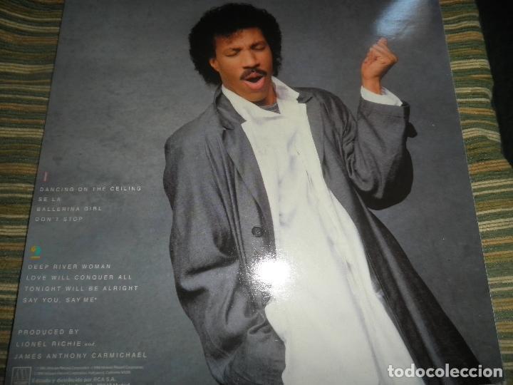 Discos de vinilo: LIONEL RICHIE - DANCING ON THE CEILING LP - ORIGINAL ESPAÑOL - MOTOWN 1986 - FUNDA INT. ORIGINAL - - Foto 19 - 141569782