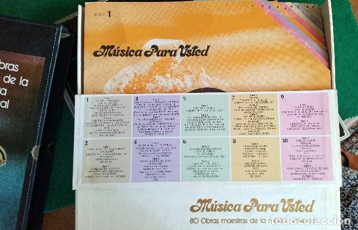 Discos de vinilo: Musica para usted 10 Lps 80 obras maestras de la música universal - Foto 3 - 100066131