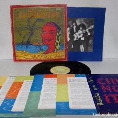 Discos de vinilo: LOS CHUNGUITOS - BAILAS CON LOS CHUNGUITOS - EMI 1990 SPAIN - CON LETRAS + 5 HOJAS PRESENTACION. Lote 58501754