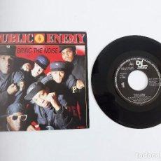 Discos de vinilo: PUBLIC ENEMY - SINGLE PROMO - AÑO 1988. Lote 139623436