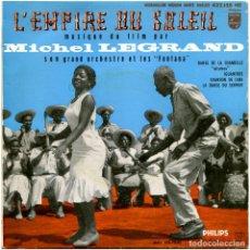 Discos de vinilo: MICHEL LEGRAND, SON GRAND ORCHESTRE ET LES FONTANA – L'EMPIRE DU SOLEIL MUSIQUE DU FILM - EP 1957. Lote 100146931