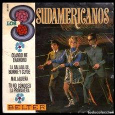 Discos de vinilo - LOS 3 SUDAMERICANOS, LA BALADA DE BONNIE Y CLYDE Y DEMAS. - 100152591