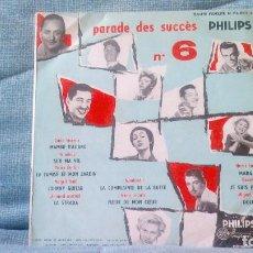 Discos de vinilo: PARADE DES SUCCÈS PHILIPS - VOL. 6 - EDICIÓN ORIGINAL FRANCESA - MINI LP DE 10 PULGADAS. Lote 100156611