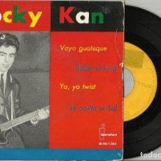 Discos de vinilo: ROCKY KAN EP VAYA GUATEQUE + 3 1963 ESCUCHADO. Lote 100175031