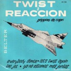 Discos de vinilo: PEPPINO DE CAPRI, EP, EVERYBODY DANCE + 3, AÑO 1962. Lote 100200103