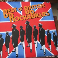 Discos de vinilo: BEST OF BRITISH ROCKABILLIES - EN PERFECTO ESTADO. Lote 100220395