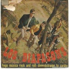 Discos de vinilo: LOS DIAPASONS - HAGO MUSICA ROCK AND ROLL / DEMUESTRAME TU CARIÑO (45 RPM) RCA 1967 - VG/VG++. Lote 100236779