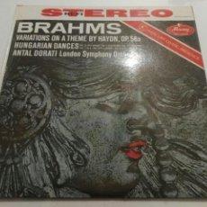 Discos de vinilo: BRAHMS- LP VARIATIONS ON A THEME BY HAYDN, OP. 56A- HUNGARIAN DANCES- MERCURY RECORDS 2. Lote 100251778