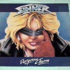 Discos de vinilo: LP SINNER - DANGEROUS CHARM. Lote 100253583