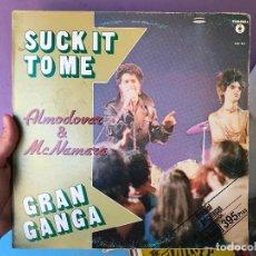 Discos de vinilo: ALMODOVAR & MCNAMARA SUCK IT TO ME - LP MÁXI + ENCARTE - EN MUY BUEN ESTADO - VER FOTOS. Lote 100261619