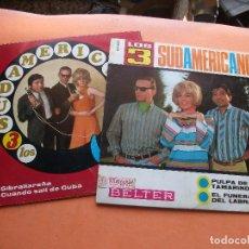 Discos de vinilo: LOS TRES SUDAMERICANOS (2) CUANDO SALI DE CUBA/PULPA DE SINGLE SPAIN 1967 PDELUXE. Lote 100261987